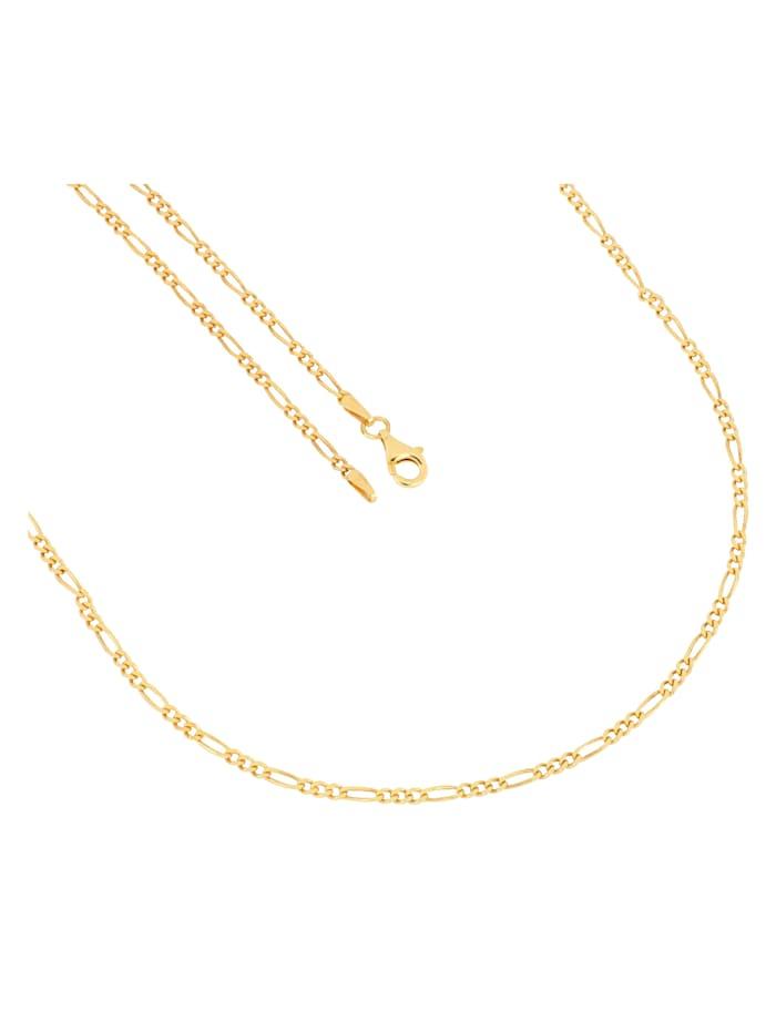 Grazielli Figarokette in Silber 925, Gelbgoldfarben