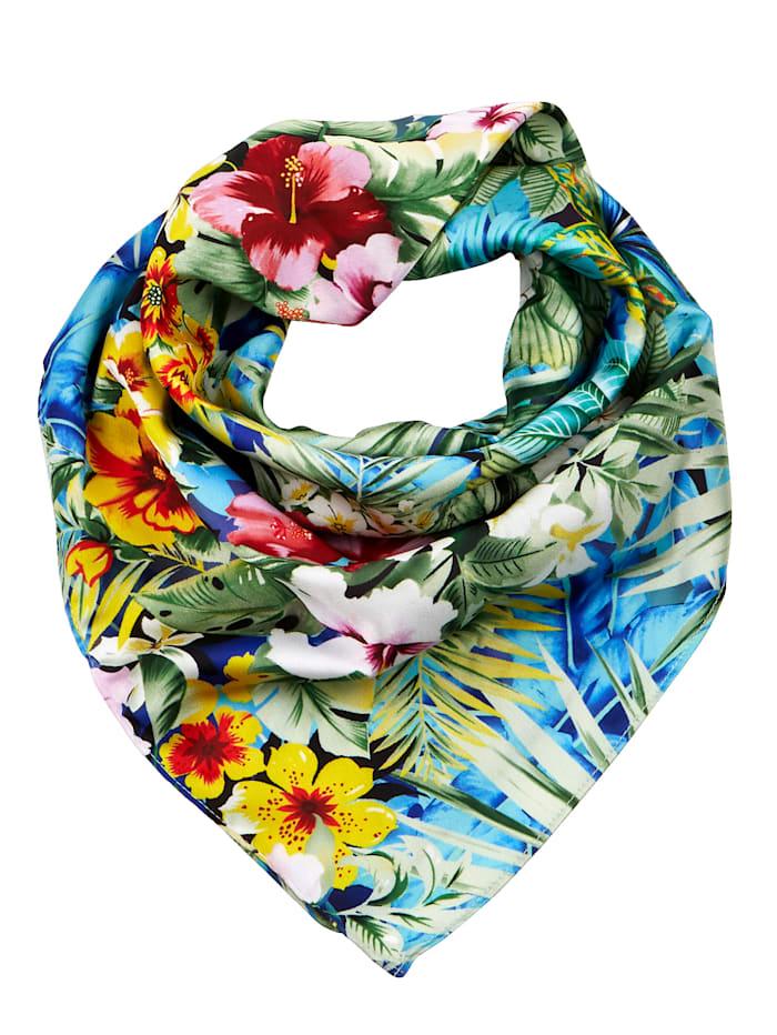 Paola Scarf med vackert blommönster, flerfärgad