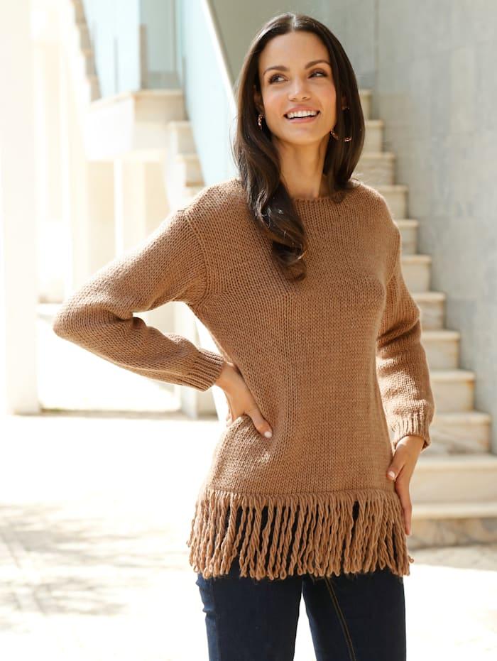 Pullover mit Fransen am Saum