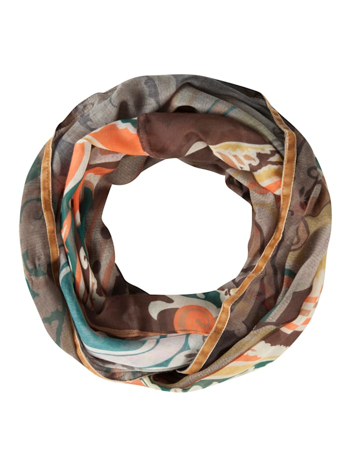 Codello Softer Paisley-Loop aus recyceltem Polyester, camel