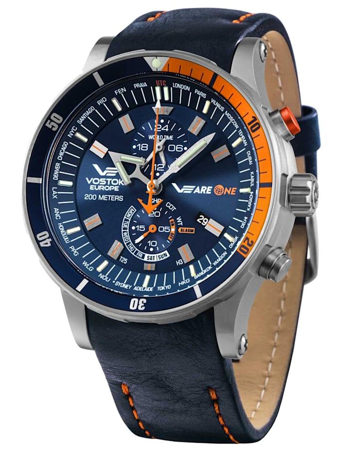 Herrenuhr VEareONE Special Edition Blau/Orange