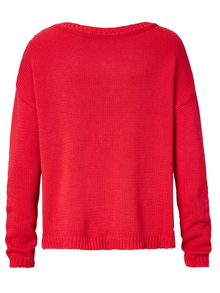 Pullover Aufgestickter Schriftzug