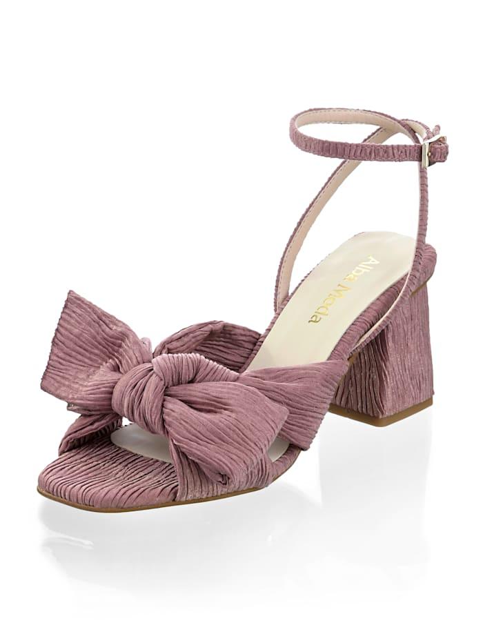 Alba Moda Sandalette im Plissee-Design, Altrosa
