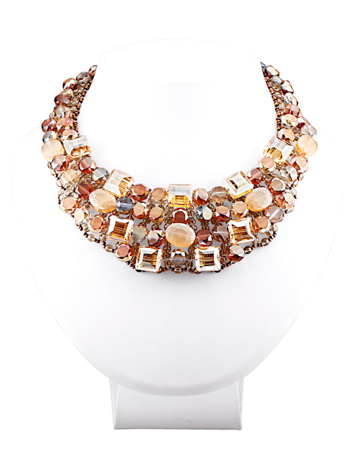 Statement Necklace with Glass Stones