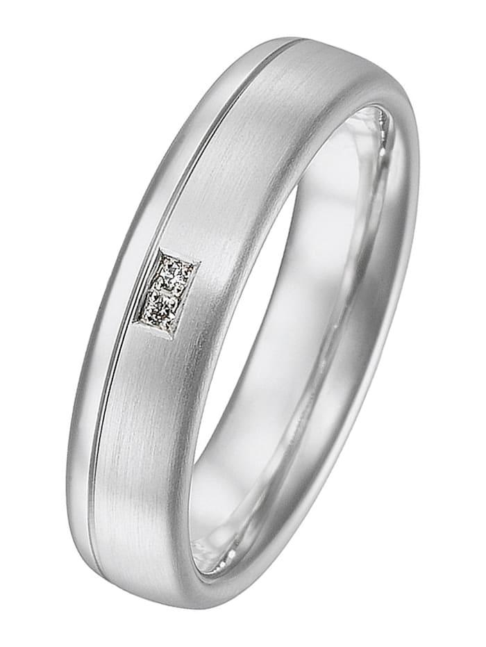 CHRIST C-Collection CHRIST Damen-Freundschaftsring 925er Silber 2 Brillanten, Silber