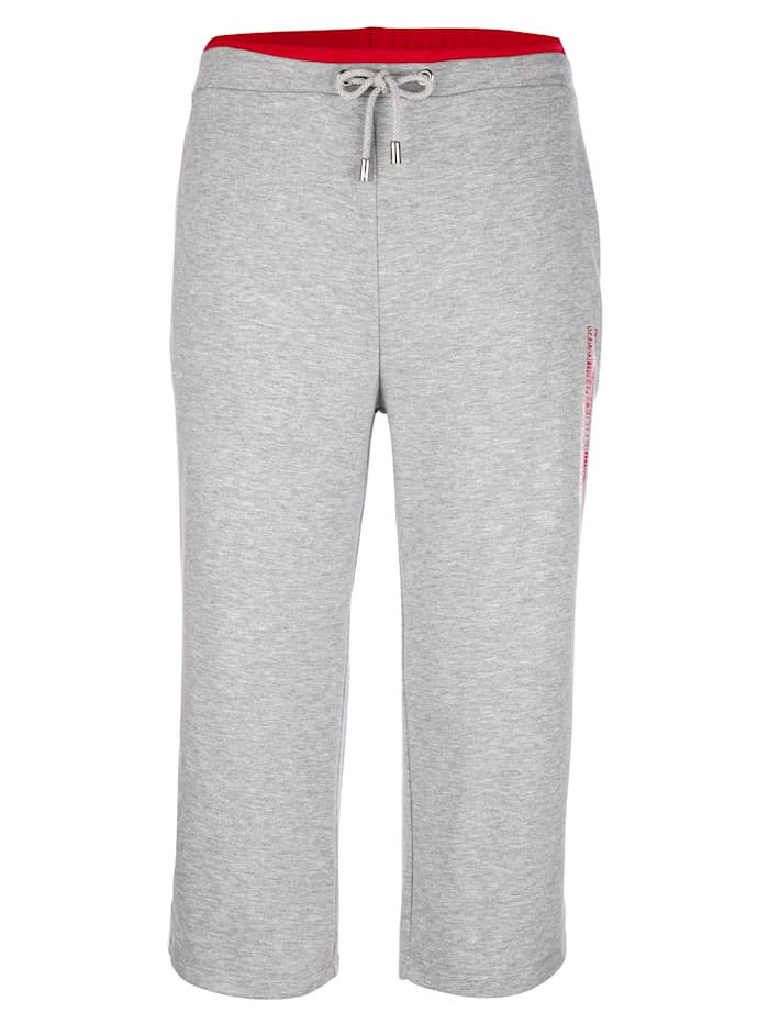 Joggingbroek met rode contrastband
