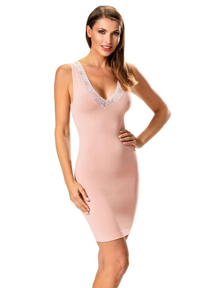 Janastyle Shaping-kjole med sarte blonder, Beige