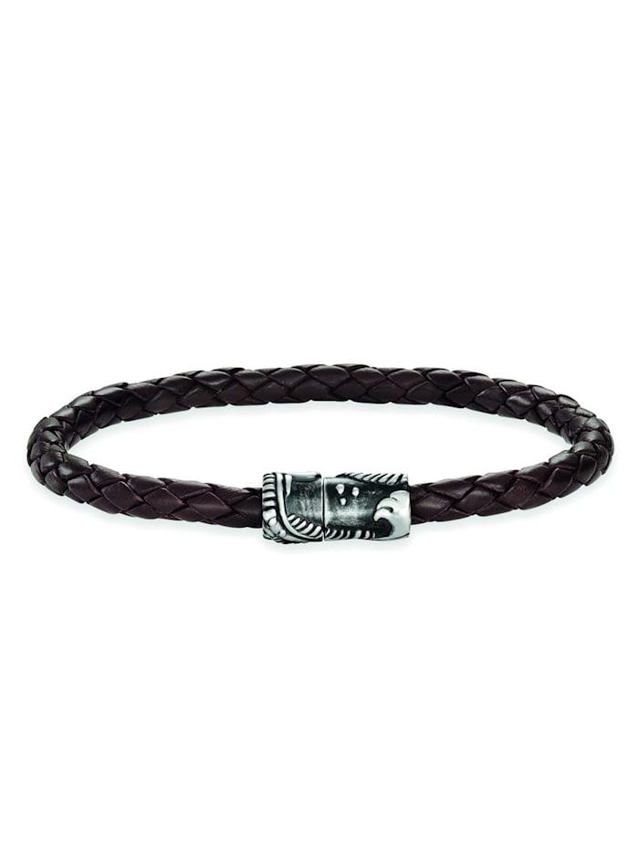 CAI Armband 925/- Sterling Silber ohne Stein 21cm Mattiert, Silbergrau