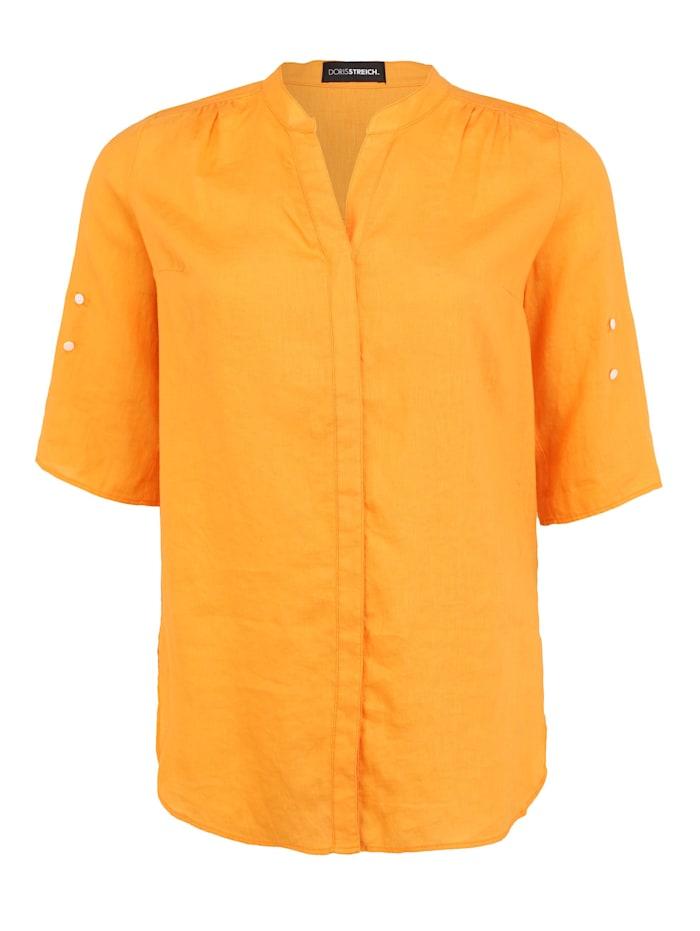 Doris Streich Bluse mit V-Ausschnitt, mango