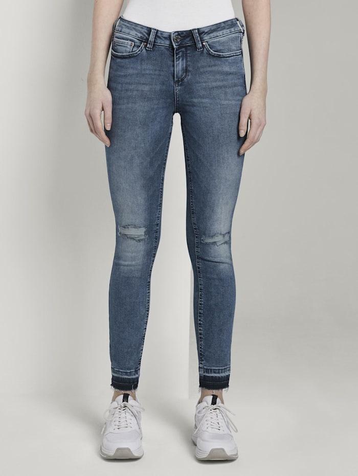 Tom Tailor Denim Jona Extra Skinny Jeans mit Rissen, Destroyed Mid Stone Blue Denim