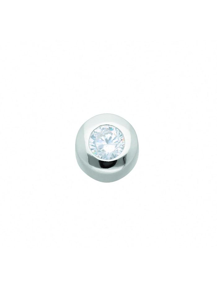 1001 Diamonds Damen Silberschmuck 925 Silber Anhänger mit Zirkonia Ø 6,9 mm, silber