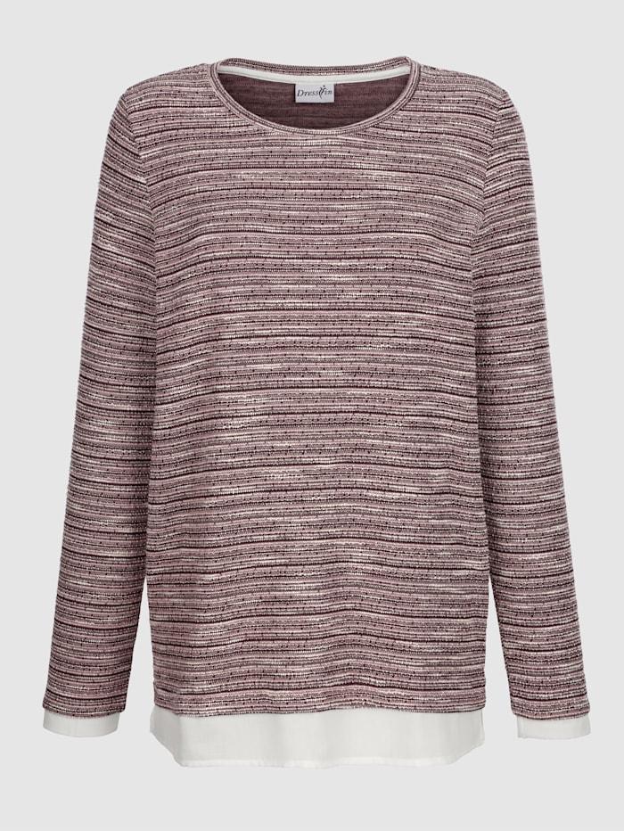 Shirt met blouse-inzet