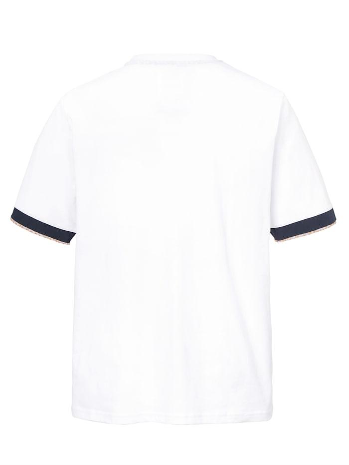 T-shirt met gebloemde details