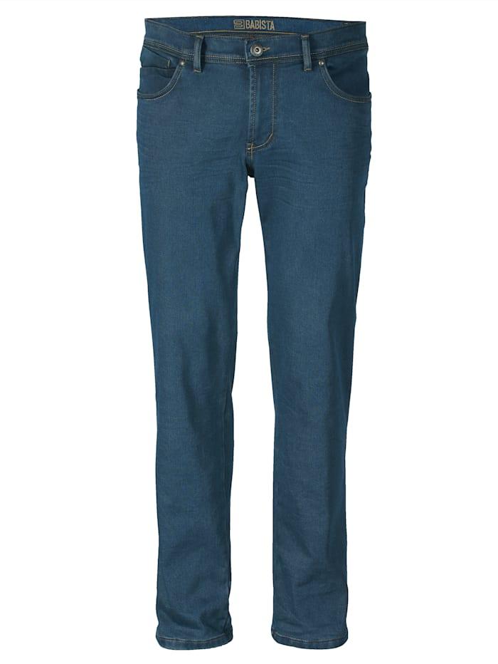 BABISTA Jeans med varm flanell på innsiden, Blå