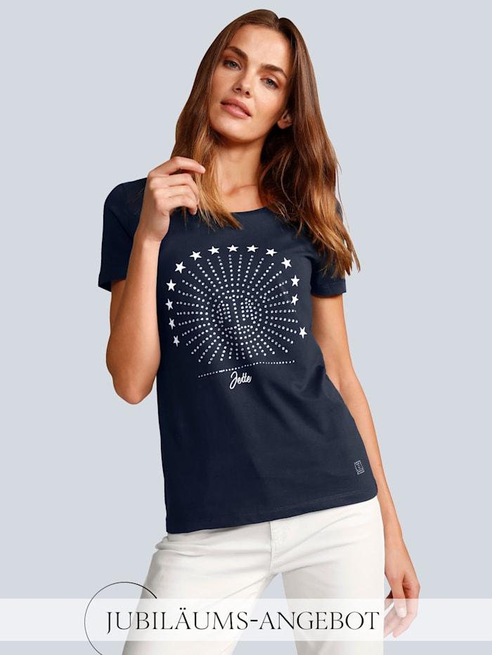 JETTE JOOP T-Shirt mit Sternchen, Marineblau
