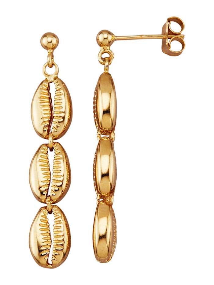 Diemer Gold Øredobber i gull 585, Gullfarget