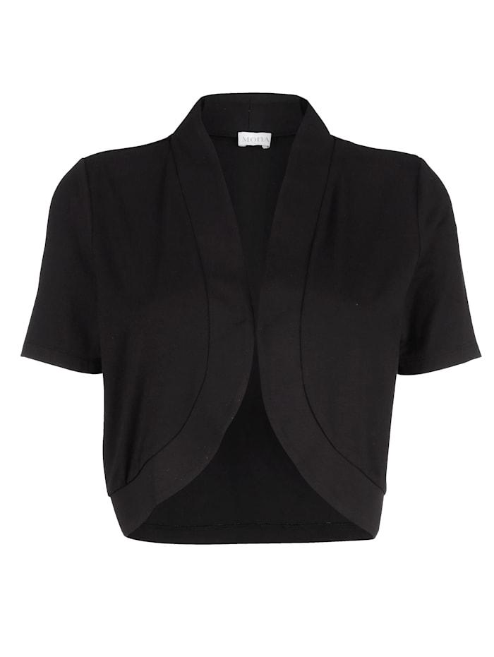 Bolero-Jacke mit dezentem Haken-Ösen Verschluss