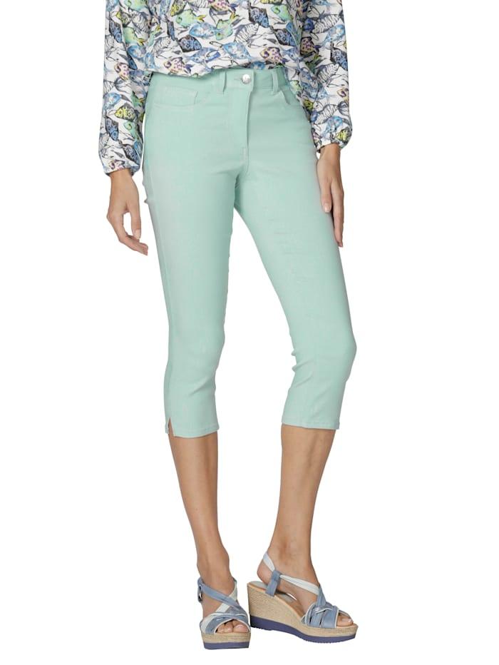 AMY VERMONT Capri-jeans van elastisch materiaal, Turquoise