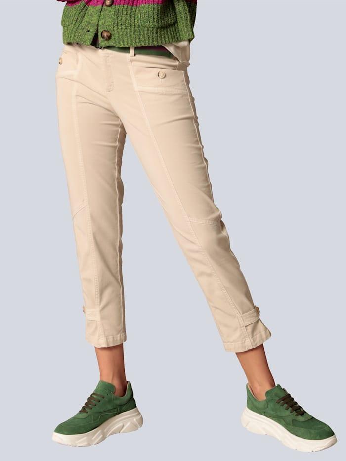 OUI Hose mit Riegel am Bein, Creme-Weiß