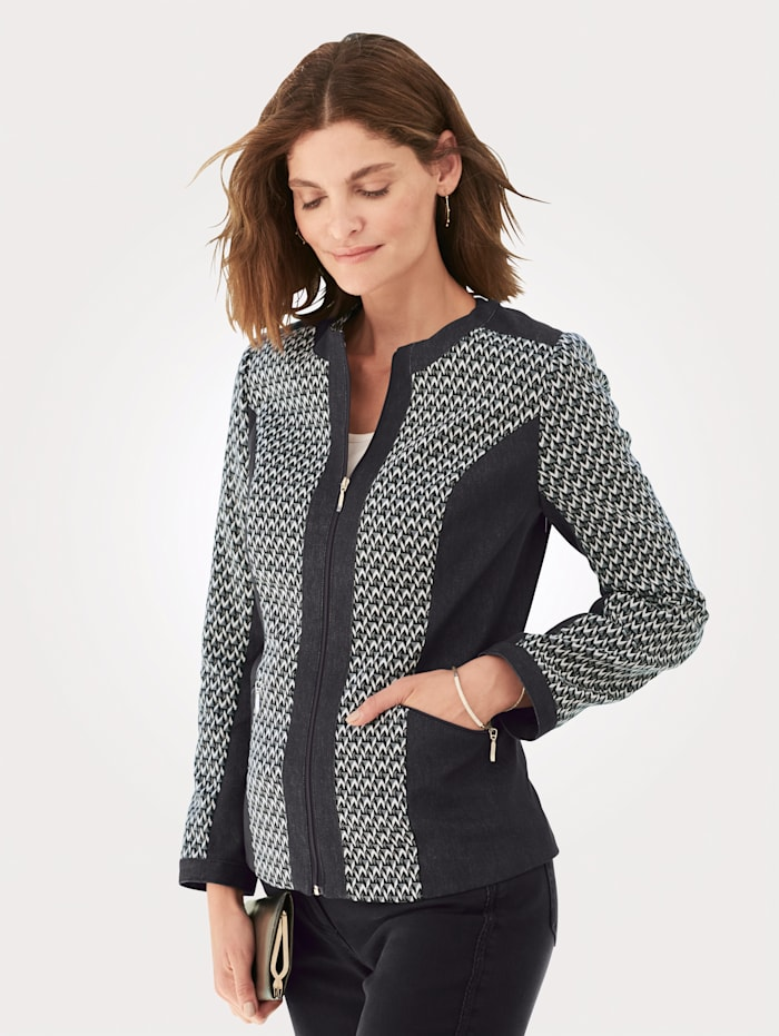 Blazer with a graphic print