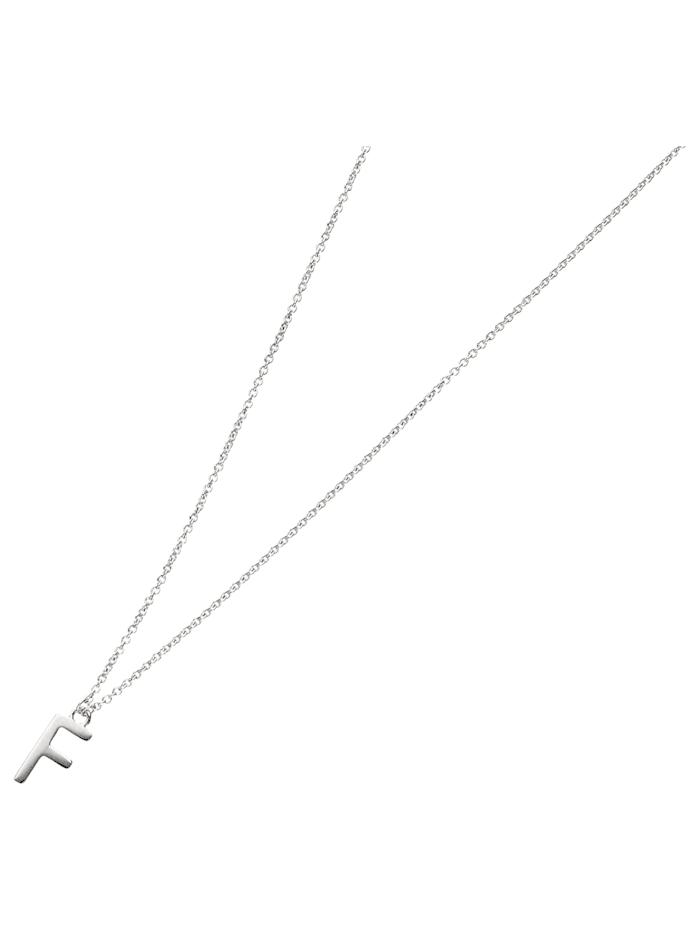 Smart Jewel Collier Buchstabe F, Silber 925, Silber