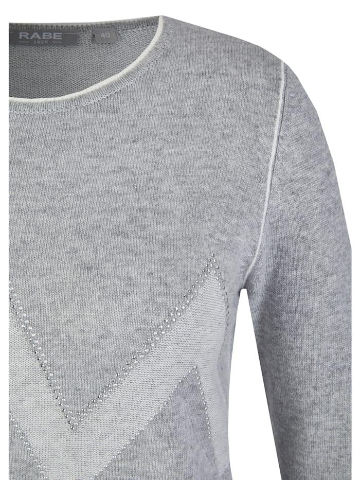 Pullover mit Zick-Zack-Muster und Glitzersteinen