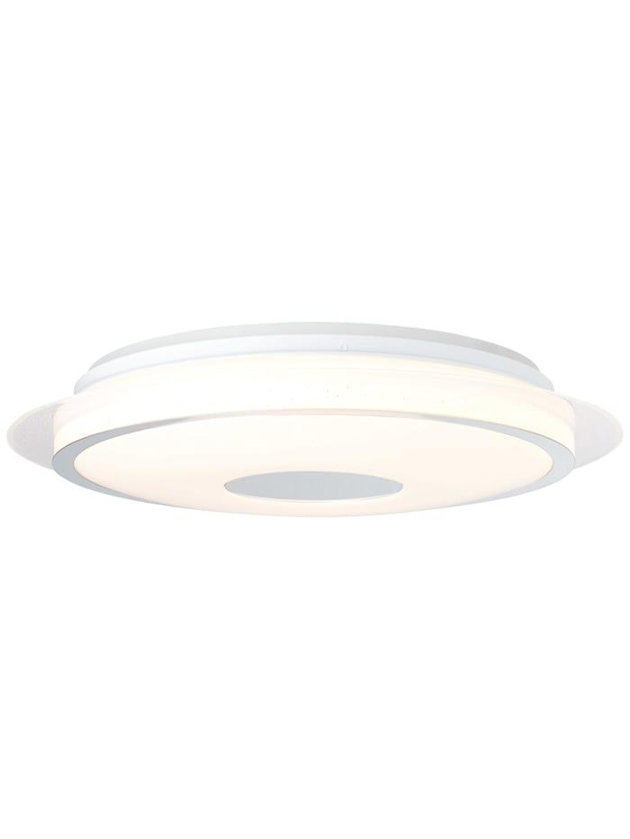 Brilliant Viktor LED Deckenleuchte 45cm weiß-silber, weiß-silber