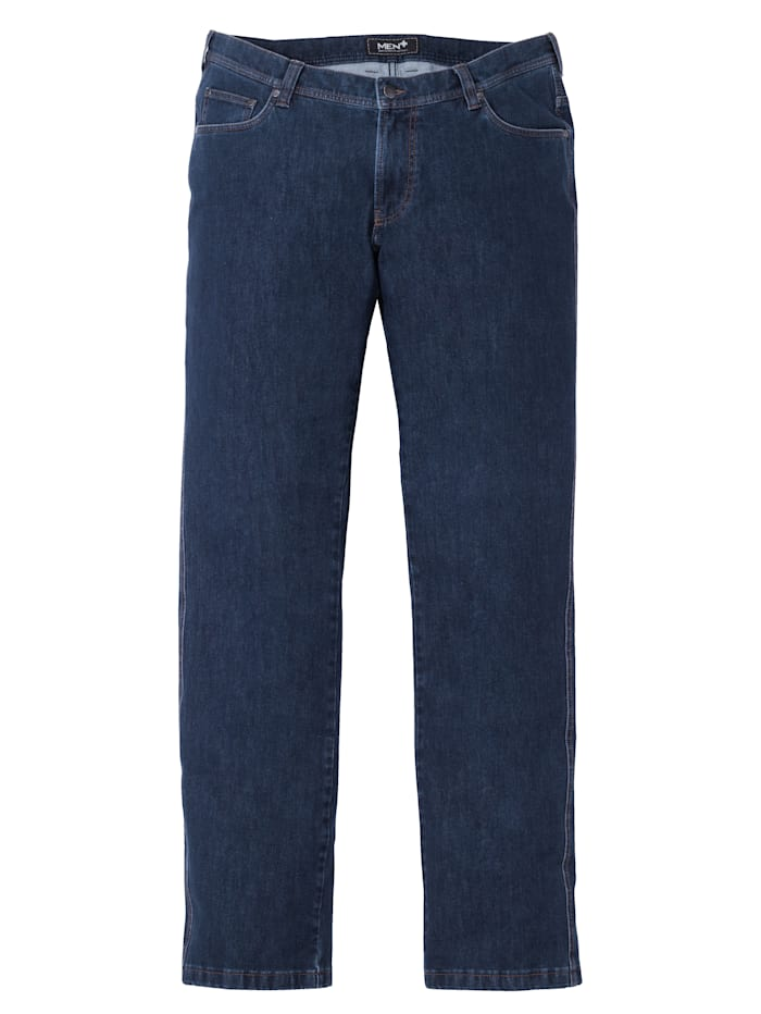 Men Plus Jeans i stretchmaterial i regular fit, Dark blue
