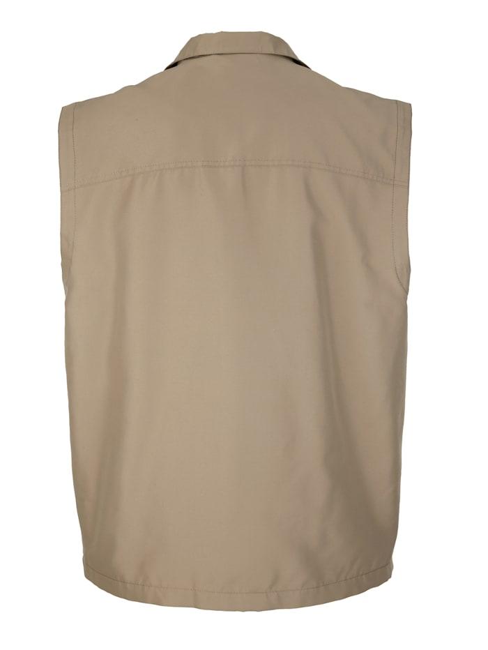 Veste sans manches à poches pratiques