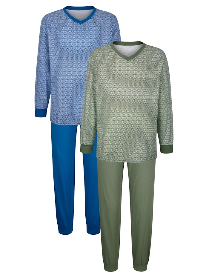 Roger Kent Shortama's, Blauw/Groen