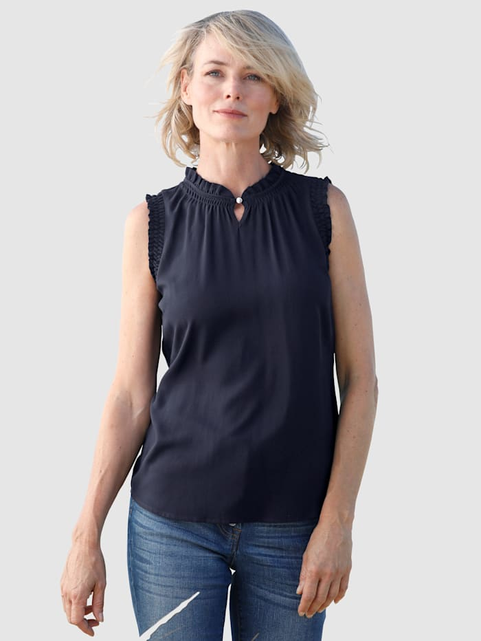 Dress In Blúzkový top s nariasenými detailmi, Námornícka