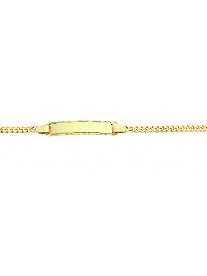 1001 Diamonds Damen Goldschmuck 333 Gold Flach Panzer Armband 18,5 cm Ø 2,4 mm, gold