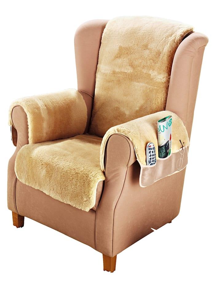 Kaiser Naturfellprodukte Lammfell-Sesselauflage, beige
