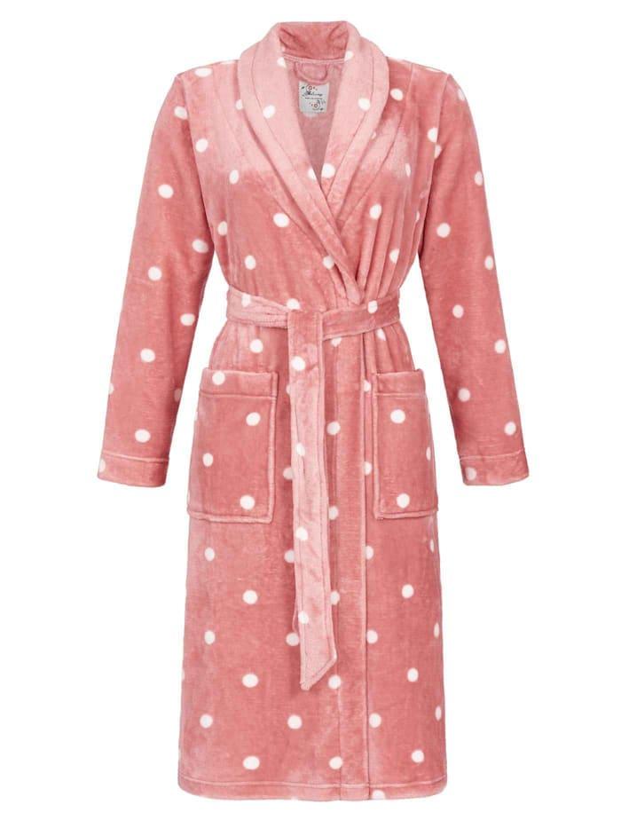 Ringella Flausch-Bademantel mit Schalkragen, Länge 110cm, heavenly pink