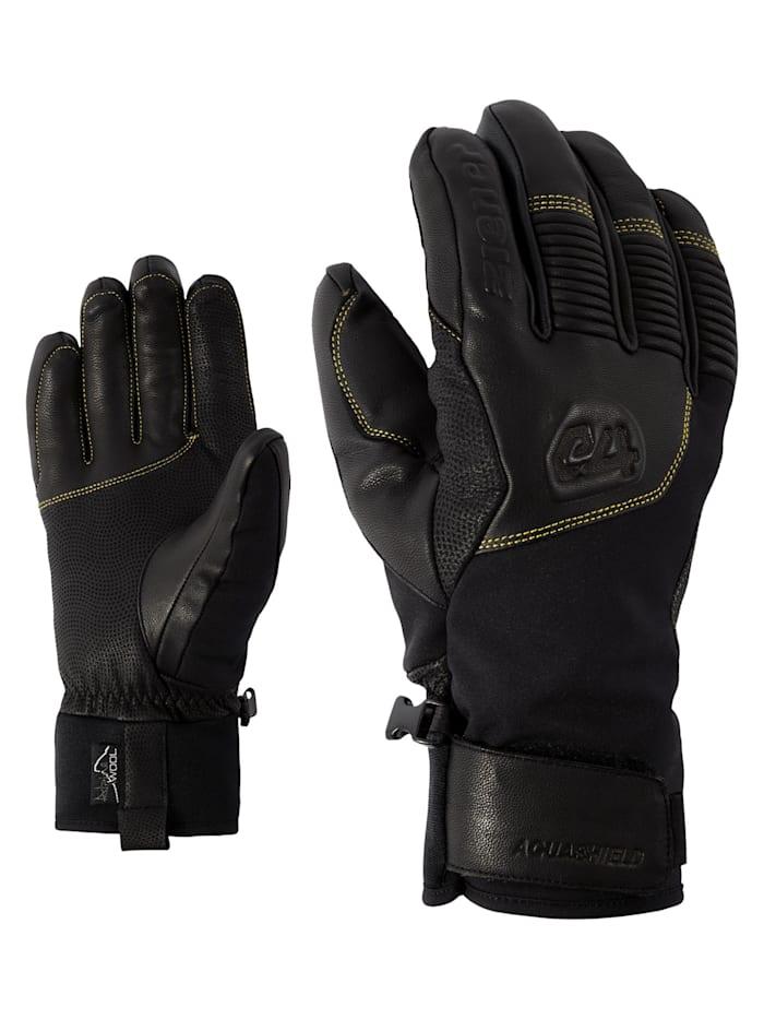 Ziener GANZENBERG AS(R) AW glove, Black/citrus
