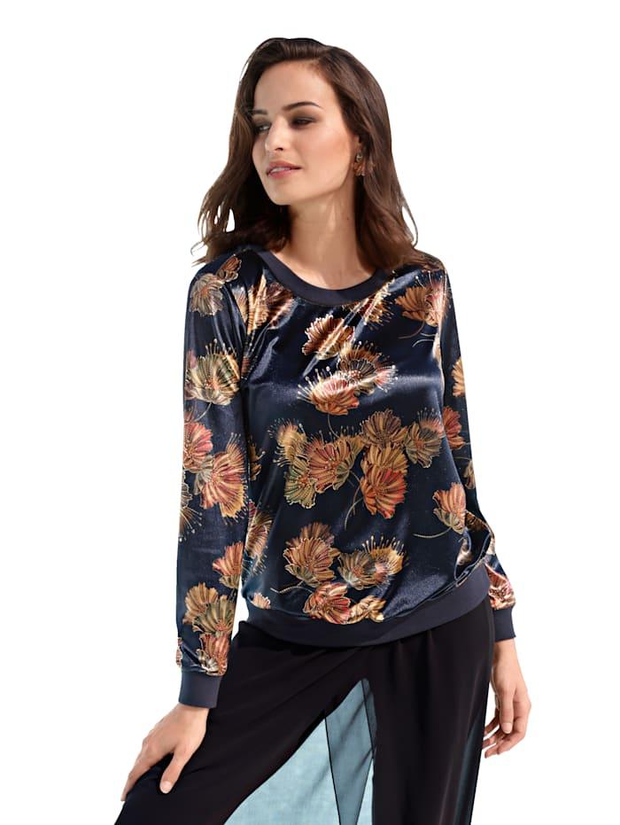 AMY VERMONT Sweatshirt met bloemenpatroon, Zwart