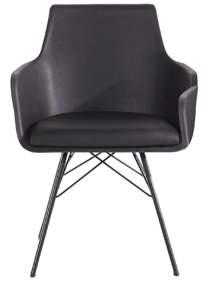 Living Stuhl-Set, 2-tlg., Schwarz
