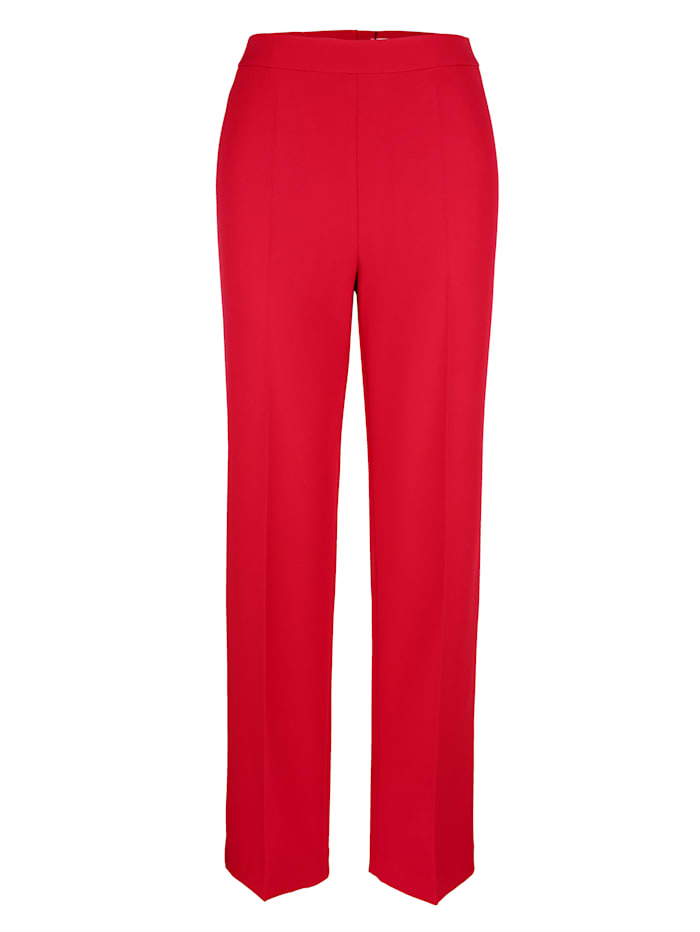 Trousers with a wide leg cut