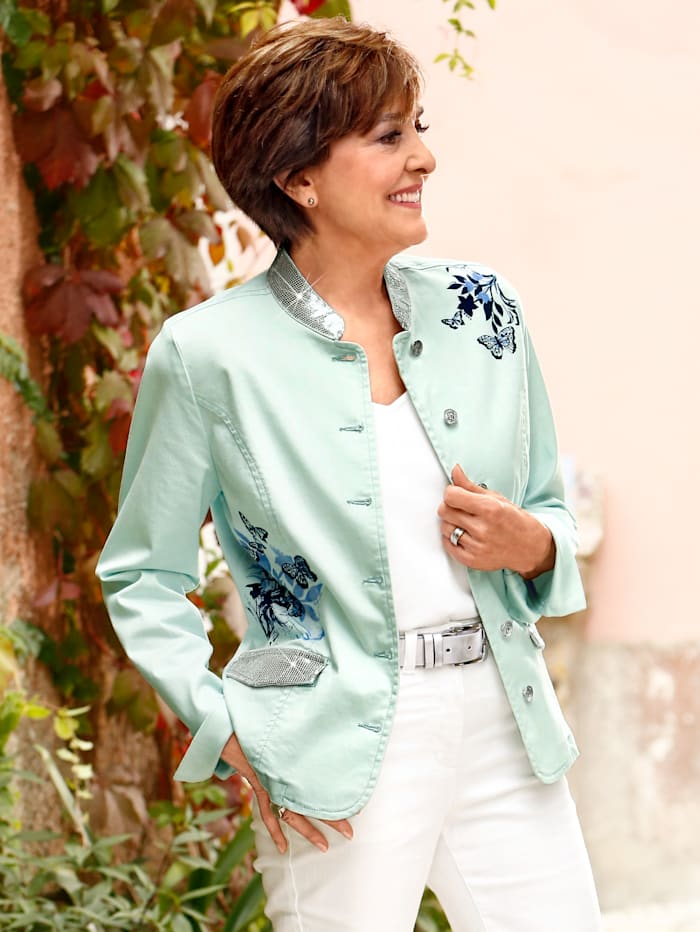 Paola Spijkerjasje met pailletten, Ijsblauw