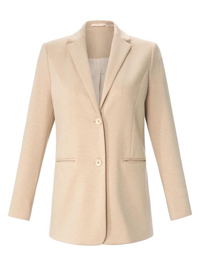 Anna Aura Blazer Jersey-Blazer Ton-in-Ton-Nähte, beige