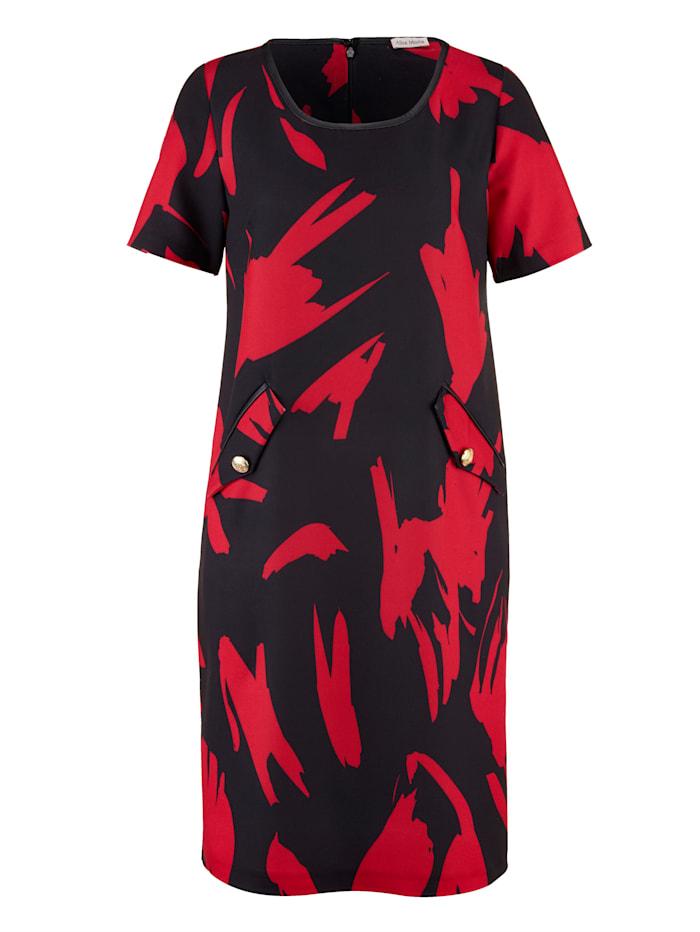 Kleid mit dekorativen Knöpfen an Zier-Patten
