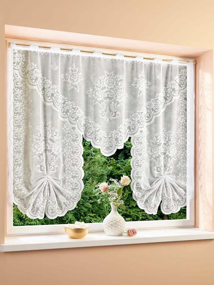 Webschatz Kleinfenstergardine 'Schwalbi', weiß