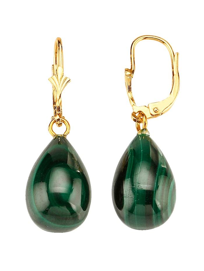 Ohrringe mit Malachit, Grün