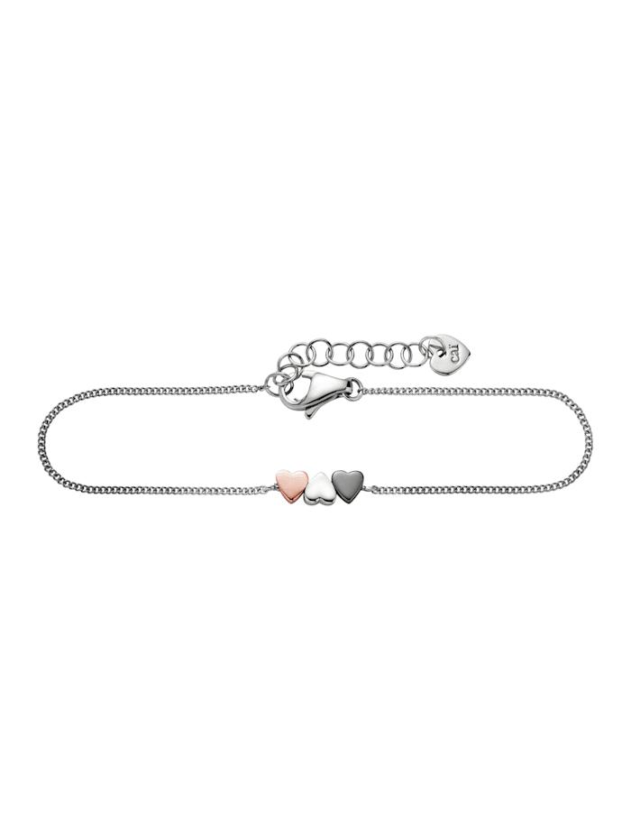 CAI Armband 925/- Sterling Silber ohne Stein weiß 15cm Glänzend, mehrfarbig