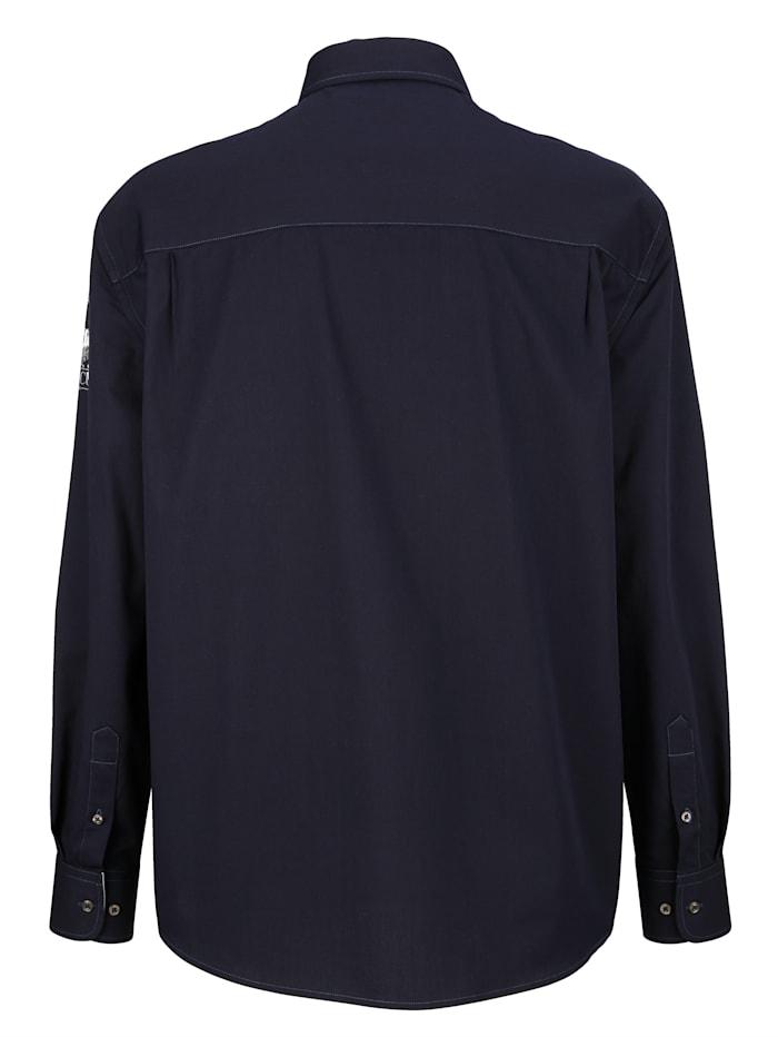 Chemise à poche poitrine zippée