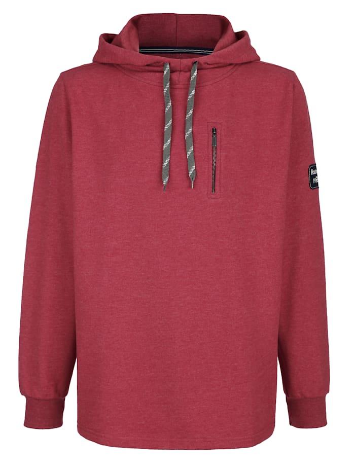 Roger Kent Sweatshirt med huva, Röd