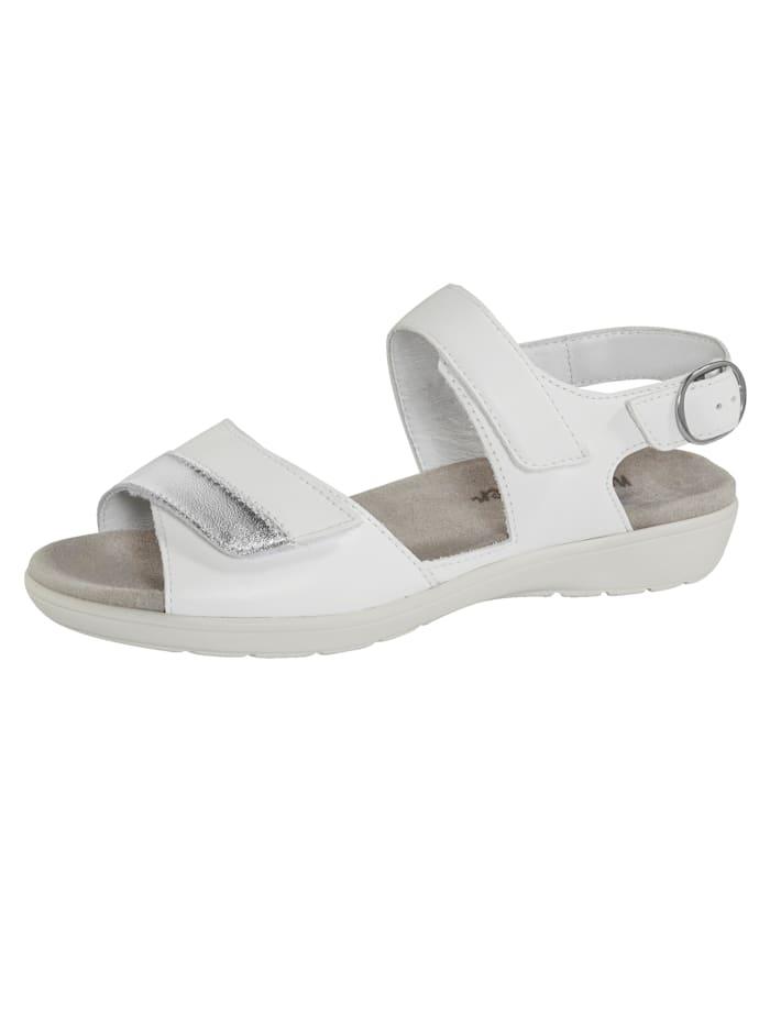 Naturläufer Sandale mit Luftpolsterlaufsohle, Weiß