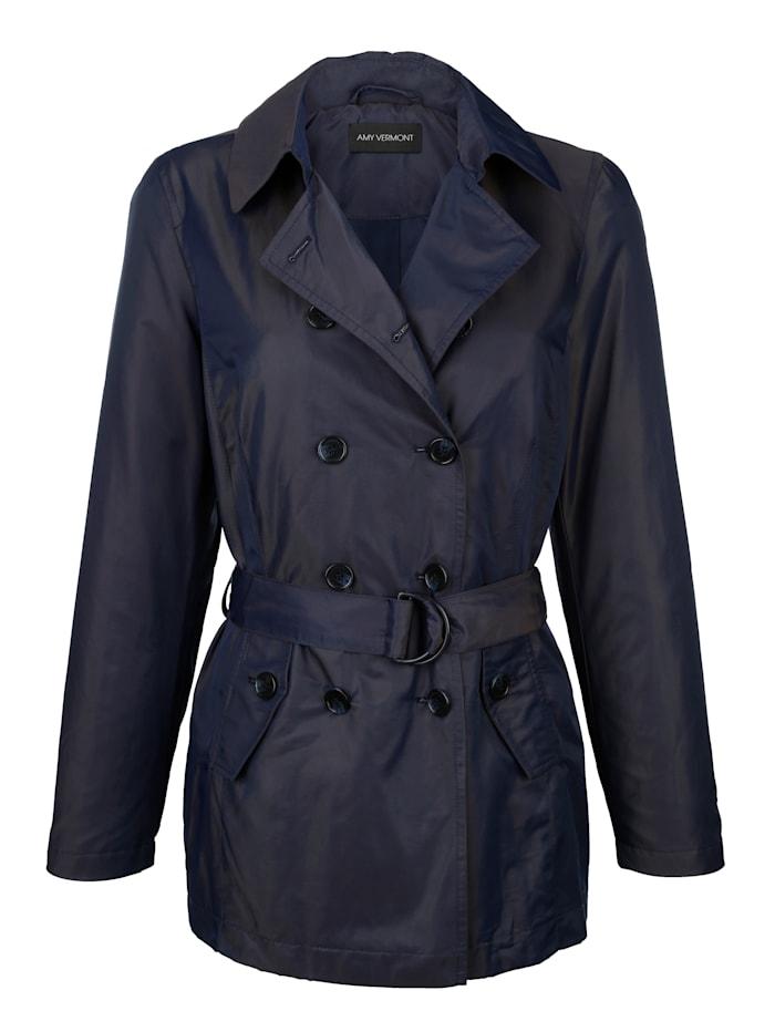 AMY VERMONT Jacke mit doppelter Knopfreihe, Marineblau
