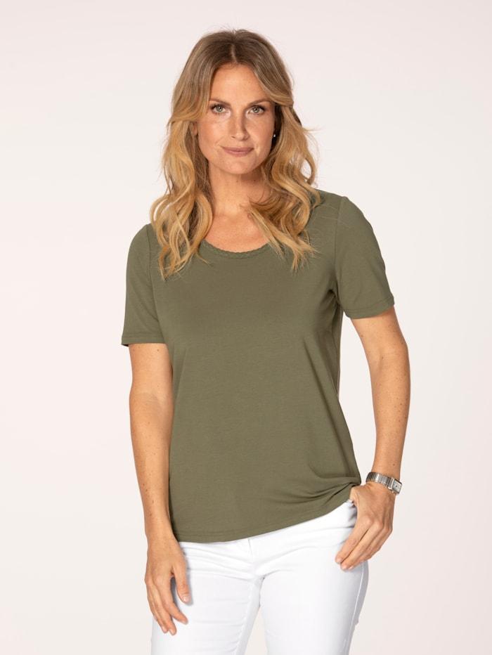 MONA T-shirt en coton pima, Olive