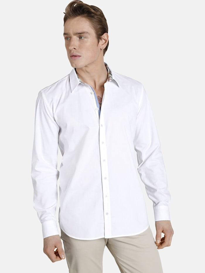 Shirtmaster Shirtmaster Hemd sleepingtiger, weiß